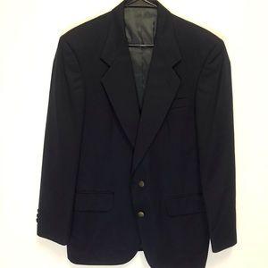 Oscar De La Rente Navy 100% Wool Blazer